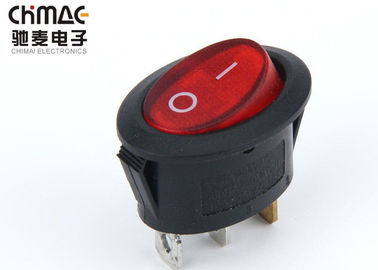 Minature Oval 3 Pin Rocker Switch , On Off On Rocker Switch One Position